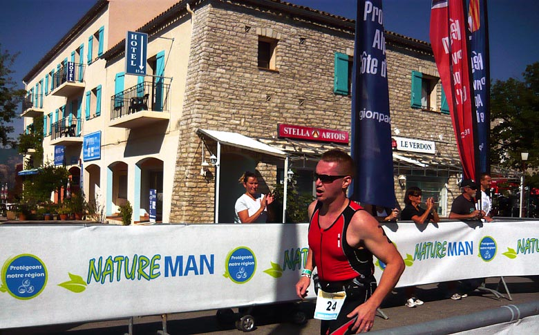 NatureMan, triathlon du Verdon, octobre 2012