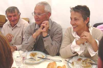 8 mai 2005 : repas après la cérémonie de jumelage