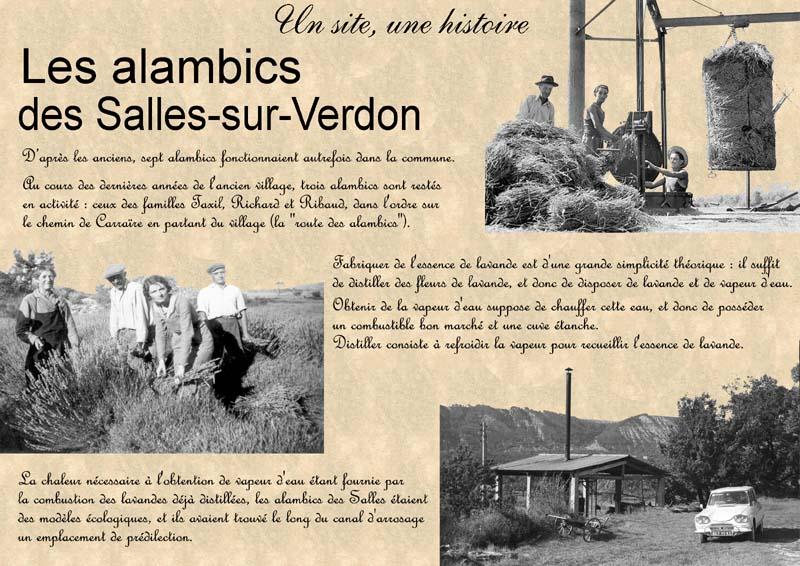 Plaque commémorative des alambics