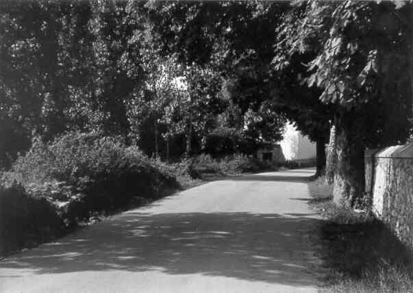Les Salles, entry of the village from Bauduen, 27/8/73