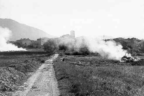 Les Salles, la route des iscles, 20/10/1973