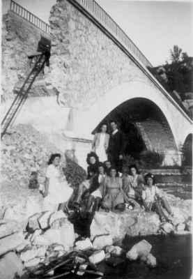 Le pont de Garuby en 1945