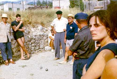 Concours de boules, Sainte-Anne 1961 aux Salles-sur-Verdon