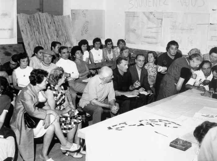 Répartition des lots du nouveau village, 11/09/1971
