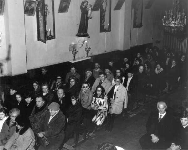Les Salles, la dernière messe de minuit, 1972