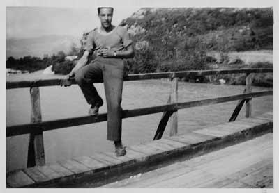 Le pont de Garuby en bois, 1946