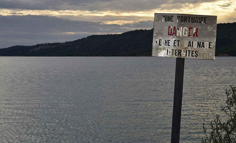 Le lac de Sainte-Croix aujourd'hui