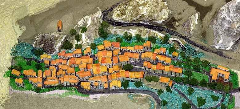 La maquette du village d'Aiguines