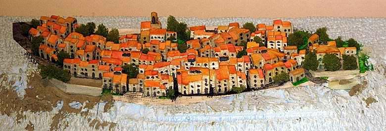 La maquette du village de Bauduen