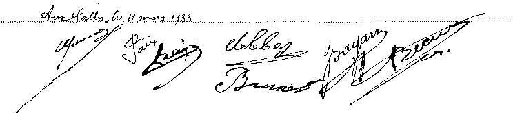 Délibération du conseil municipal du 11 mars 1933