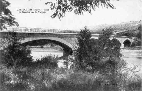 Le pont de Garuby, fin XIXe siècle