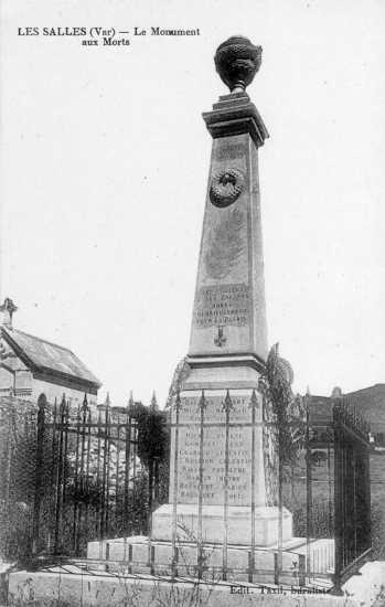 Les Salles, le Monument aux Morts de la guerre de 1914-1918