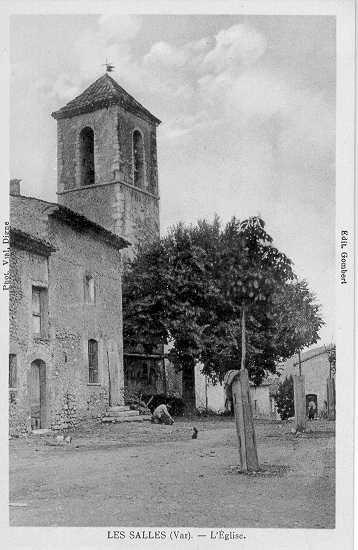 Le clocher de l'église des Salles