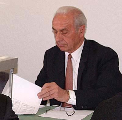 André Brunias, doyen du Conseil Municipal des Salles-sur-Verdon