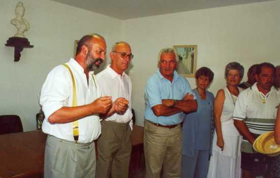 Inauguration de la maquette de l'ancien village des Salles