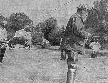 Fernandel au pont de Garuby en 1966