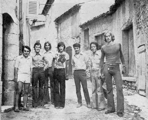 Concours de boules, Sainte-Anne 1973 aux Salles-sur-Verdon
