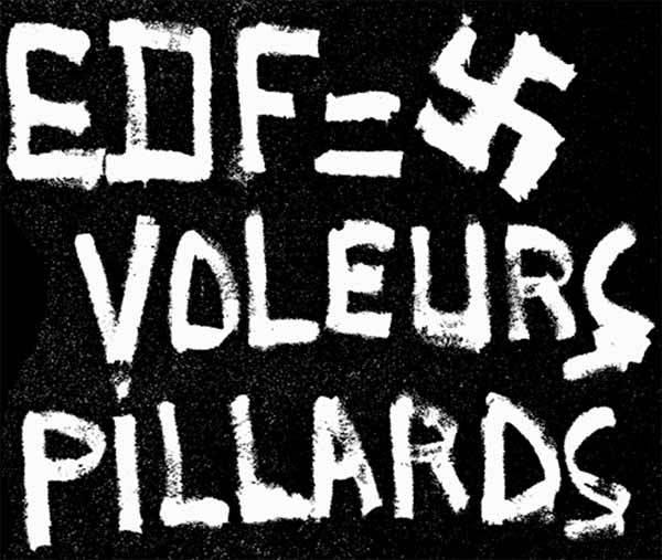 Les Salles, graffitis, 1974