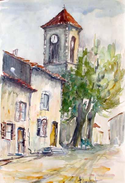 Les Salles-sur-Verdon, place de l'église