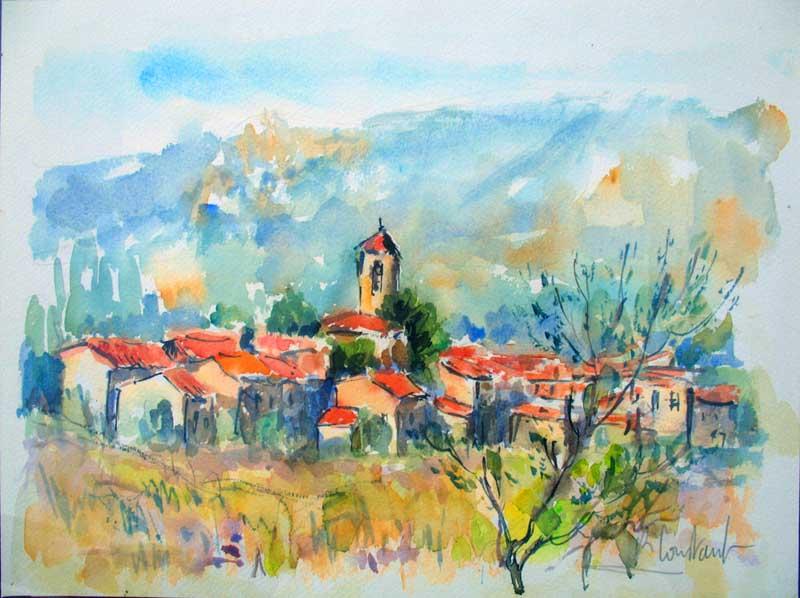 Le village vu des Berges