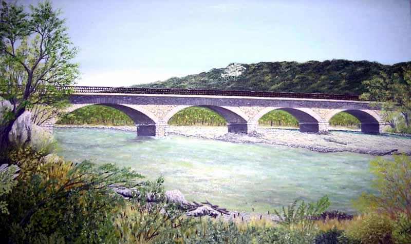 L'ancien pont de Garuby (détruit en 1945)