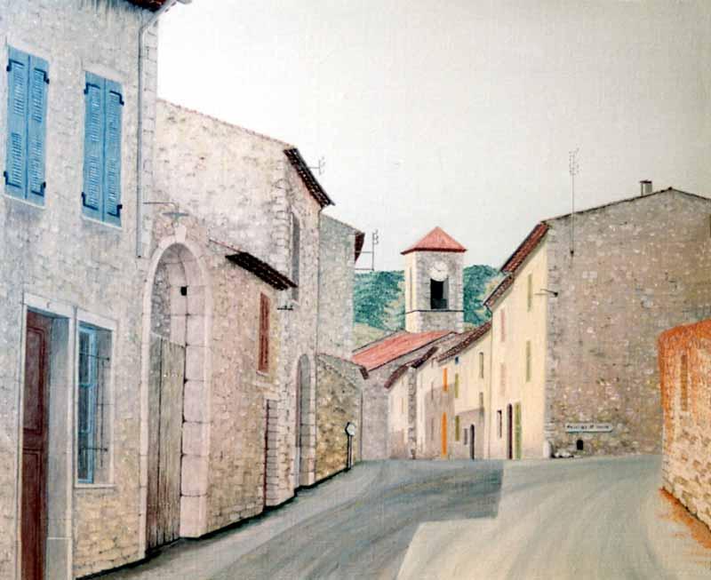 L'entrée du village en venant d'Aups
