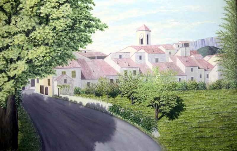 L'entrée du village en venant de Garuby