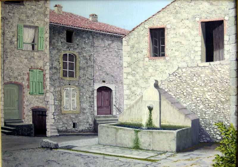 Les Salles-sur-Verdon, la fontaine de la calade