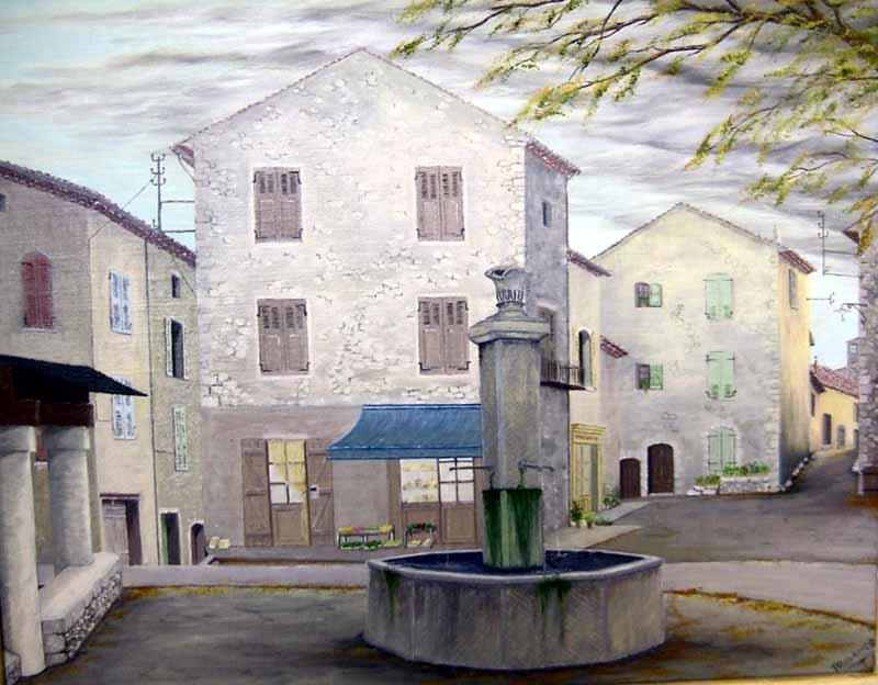 La fontaine des Salles-sur-Verdon