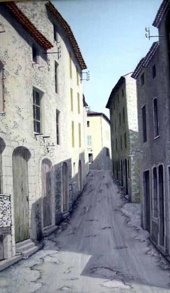 Les Salles-sur-Verdon, la 'Grand-Rue'