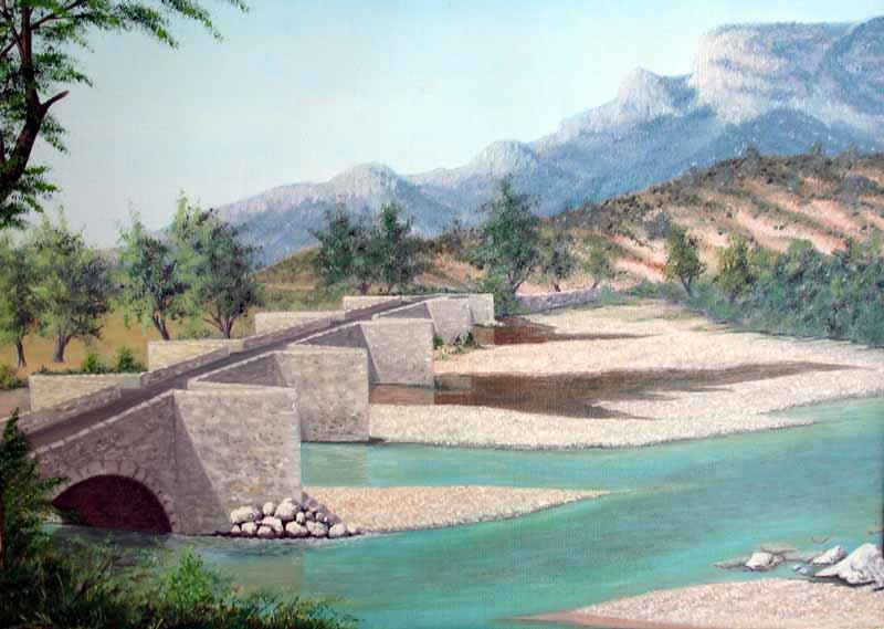 Le pont d'Aiguines